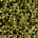 Dark green color triangle mosaic background Royalty Free Stock Photos