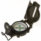 Dark green compass. On a white Stock Photography
