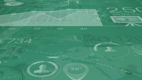 Dark Green Corporate Background With Abstract Elements Of Infographics stock footage