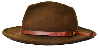 Dark Green cowboy hat. With white background Royalty Free Stock Photos