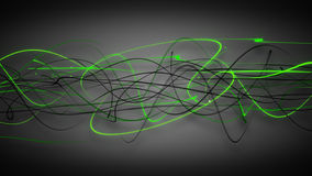 Dark green curved lines background Stock Images