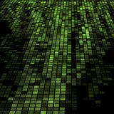Dark green 3D mosaic Stock Photo