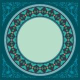 Dark green decoratif islamic circle frame Stock Photo