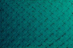 Dark green of fabric pattern handmade for background royalty free stock photography