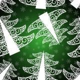 Dark green fir tree seamless pattern. Green fir tree seamless pattern Royalty Free Stock Image