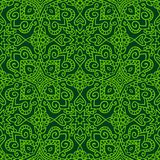 Dark green folk pattern Stock Photo
