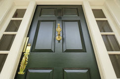 Dark Green Front Door Stock Image