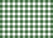 Dark Green Gingham Pattern Background Royalty Free Stock Image