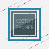 Dark green glossy banner, with glass elements Royalty Free Stock Photos