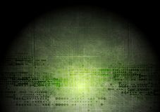 Dark green grunge tech background with geometric Royalty Free Stock Photography