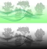 Dark green landscape Stock Images