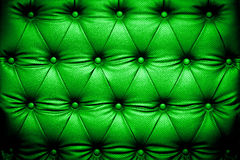 Dark green leather texture with buttoned pattern Royalty Free Stock Image