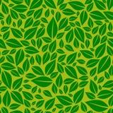 Dark green leaves on light green background seamless tile-able vector pattern stock illustration
