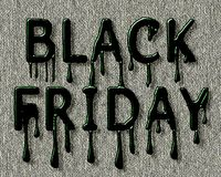 Black Friday. Inscription in the form of spreading paint. Dark green letters in the form of spreading paint on a gray canvas. File EPS attached royalty free illustration