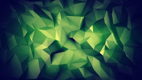 Dark green low poly 3D surface. Dark green low poly surface. Abstract 3D render Royalty Free Stock Photos