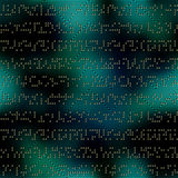 Dark green matrix pattern with the imitation of Royalty Free Stock Images