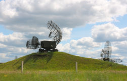 Dark green military radar Stock Images