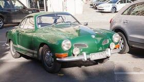 Dark green old-timer Volkswagen Karmann Ghia Royalty Free Stock Photo
