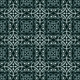 Dark green oriental pattern Stock Images