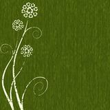 Dark green Recycling-flower concept Royalty Free Stock Photography