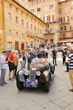 Dark green Riley Sprite in Siena Royalty Free Stock Images