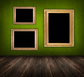 Dark green room Royalty Free Stock Images
