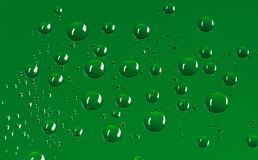 Dark green round water droplets background with pixel pattern. Round water droplets background with a pattern of pixels in a dark green colour Stock Photography