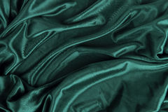 Dark Green Satin Silk Velvet Cloth Fabric Background Stock Photography
