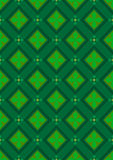 Dark green seamless background with rhombuses green shades Stock Photos