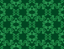 Dark green seamless floral pattern - vector Royalty Free Stock Photos