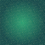 Dark Green Seamless Pattern with Coffee Stock Photos