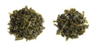 Dark Green Seaweed Salad Top View Royalty Free Stock Photo