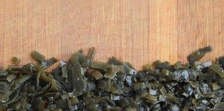 Dark Green Seaweed Salad Top View Royalty Free Stock Photography