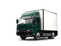 Free Dark Green Small Box Truck Stock Images - 109430214