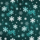 Dark Green Snowflakes Stock Images