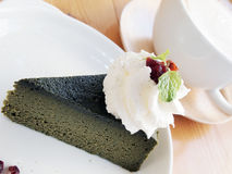 Dark Green Tea Cake Royalty Free Stock Photo