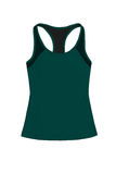Dark green teal sports top, isolated on white background. Women`s dark green teal sports top, with racerback, isolated on white background Royalty Free Stock Photography