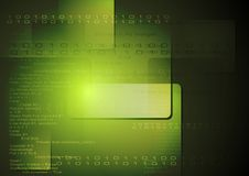 Vector technology background with binary program code Royalty Free Stock Images