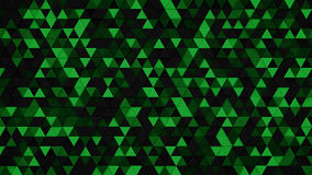 Dark green triangles extruded background 3D render. Dark green triangles chaotic extruded. Abstract geometric background. 3D render illustration Stock Photos