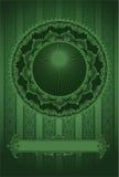 Dark Green Vintage Luxury  Ornate Background Stock Photography