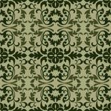 Dark green vintage wallpaper pattern Stock Photo