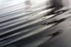 Dark green wet awning on wind. Blurs and abstract background Royalty Free Stock Photos