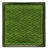 Dark green wicker frame Stock Photography