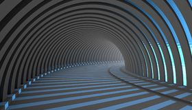 Abstract Tunnel 3d Background. Dark grey Abstract Tunnel 3d Background. 3d Render illustration Royalty Free Stock Photography