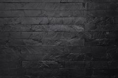 Dark grey black slate texture in natural pattern with high resolution for background and design art work. Black stone wall.  royalty free stock image