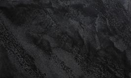 Dark grey or black slate textured background. Copy space, top view royalty free stock photo