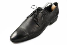 Dark grey classical man's boot Stock Photos