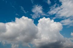 Dark and grey clouds form in the sky. Dark and grey clouds are formed in the sky Royalty Free Stock Photography