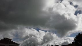 White Clouds sky timelapse stock video footage
