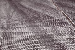 Concrete beton plate covers at airfield with rubber traces left by sport cars tires during drifting competitions, background tex. Dark grey concrete beton plate Royalty Free Stock Photography